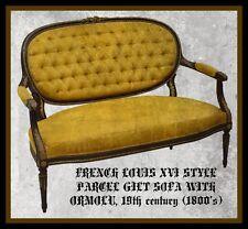 French Louis Xvi Style Parcel Gilt Sofa With Ormolu, 19th century ( 1800s )