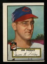 1952 TOPPS~#399~JIM FRIDLEY~WHITE PACK FRESH MISCUT BOTH SIDES~CLEVELAND INDIANS