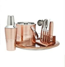 Copper Cocktail Shaker Mixer Drink Bartender Drink Mixing  9 Piece Bar Set New