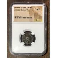 Romano-Gallic Empire Tetricus I, AD 271-274 NGC XF ***Rev Tye's Stache** #613163