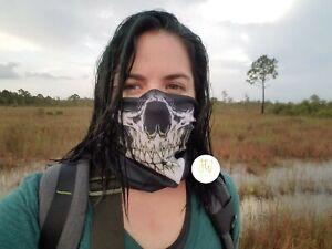 Buff Fishing Hiking Hunting Mask Balaclava Tactical Black Skull Face Shield NEW