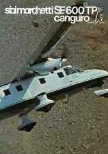 AERONAUTICA AIRCRAFT Siai Marchetti SF600TP Canguro 1989 Agusta eng Brochure DVD