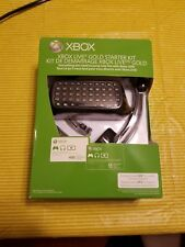 Xbox Live Gold Starter Kit (Xbox 360). Chatpad and Headset Only. New - Open Box