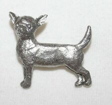 Chihuahua Dog Fine PEWTER PIN Jewelry Art USA Made