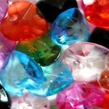 100 pieces 10mm Acrylic Plastic Mixed Heart Charm Beads - A5100