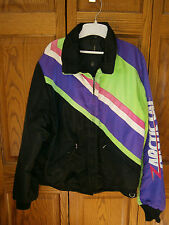 Vintage Mens Large Tall Arctic Cat Snowmobile Winter Jacket LINER Pink Green