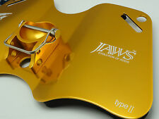JAWS TYPE II Alloy Dual Play Gimbal Pad Plate for Big Game Jigging Fishing GOLD