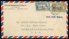 Mayfairstamps Trinidad & Tobago 1950s International Trading to US Airmail Cover