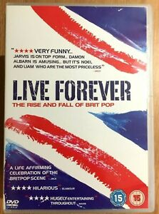 Live Forever DVD 2003 Rise + Fall of Britpop Music Documentary Blur Oasis Pulp
