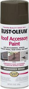 Rust-Oleum 285217 Roof Accessory Spray Paint, Weathered Wood/Brown, 12 Ounce