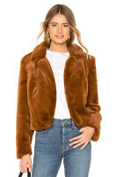 BLANKNYC Cropped Faux Fur Jacket teddy Size S Milk Chocolate Brown