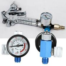 Air Pressure Regulator Relief w/ Gauge 1/4 Hose Quick Release Compressor Fitting