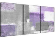 3 Panel Purple Grey Painting Bedroom Canvas Decor - Abstract 3376 - 126cm