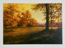 """RARE... New 4.25"""" x 6"""" Color Postcard of """"Autumn Light"""" Painting by Dan Woodson"""