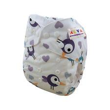 Alva Baby Boy Cloth Diaper One Size Reusable Washable Pocket Nappy +1Insert