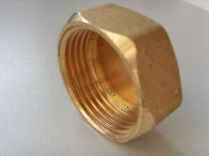 """Kappe Verschluss 3/4"""" Verschlusskappe Innengewinde Messing"""