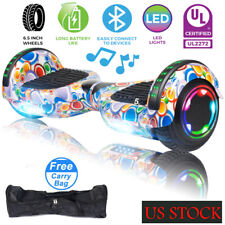 """6.5"""" All terrain Hoover board Chrome Electric Balancing Bluetooth Scooter LED"""