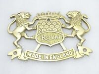 BRASS MADE REAR NUMBER PLATE LION BADGE ROYAL ENFIELD NEW BRAND