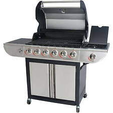 6-Burner Stainless Steel Gas Grill BBQ Backyard Patio With Side Burner Outdoor