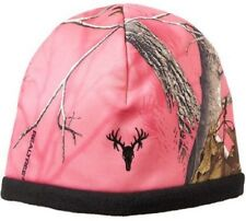 REALTREE PINK CAMO LADIES STRETCH STOCKING HAT BEANIE - REVERSIBLE to BLACK