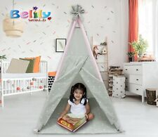 TEEPEE SET FOR KIDS, WASHABLE, EASY TO ASSEMBLE, INDOOR/OUTDOOR USE-LEOPARD