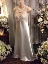 Valerie Stevens Bridal Beaded & Sequin w/Train Satin Elegant Nightgown ~ Sz L
