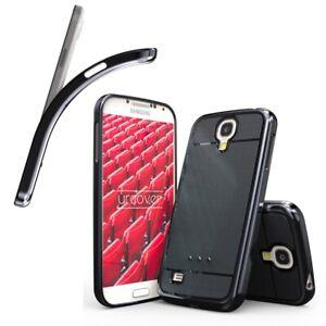 Backcase für Samsung Galaxy S4 Schutzhülle Metall Optik Silikon Soft Case Etui