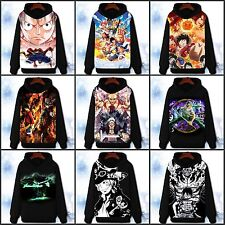 Anime One Piece Luffy/Ace/Law Hoodie Jacket Pullover Coat Sweatshirt#59-Z-34