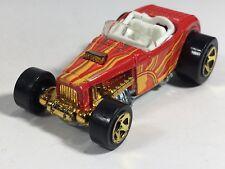 Hot Wheels Deuce Roadster Sunburnerz Kroger Exclusive Sun Rays Car Red Orange