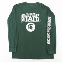 Vintage Michigan State University Green College Long Sleeve T-Shirt Mens L