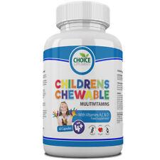Childrens Chewable Multi Vitamins Great Taste Kids Will Love, UK Made