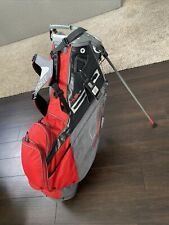 4.5 LS  Sun Mountain Stand Golf Bag 14 way gray & red Ohio State colors