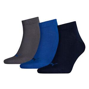 PUMA Sports Socks Mens Womens Ladies (3 Pair Multipack) Fashion Quarters UK 2-11