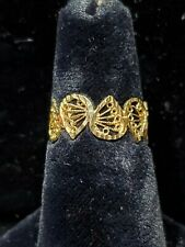 14kt Yellow Gold Ladies butterfly wing Ring *+