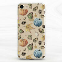 Autumn Floral Pumpkin Fall Nature Case For iPhone 6S 7 8 Xs XR 11 Pro Plus Max