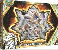 Solgaleo GX Collection Box Pokemon TCG  4 Booster Packs + Promo Card