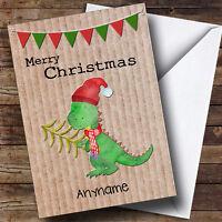 Xmas Dinosaur Krafty Personalised Christmas Card