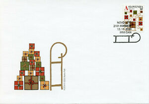 Slovenia Christmas Stamps 2020 FDC New Year Value A Gift & Greetings 1v S/A Set
