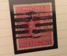 G B. Edward 7. 5 Shilling Red. Sg. 263 Parcel Cancel