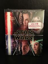 STAR WARS THE FORCE AWAKENS EXCLUSIVE COMBO PACK BLU-RAY +DVD + DIGITAL HD NEW