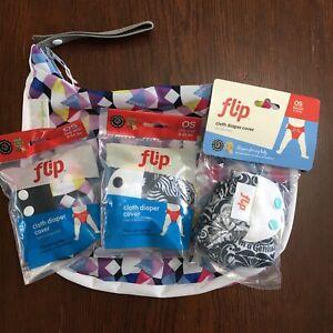 4 pc lot New BumGenius Martin TIger Osa Flower Alicia Flip Diaper Covers Wetbag