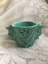 Vintage McCoy Pottery Branch Leaf Handled Flower Planter RARE VHTF-Violet Pot