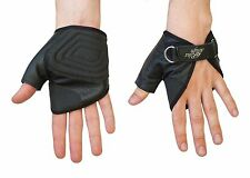 Wheelchair Gloves Leather - Ultra-Grip Quad Gloves Easy Open Strap N Roll
