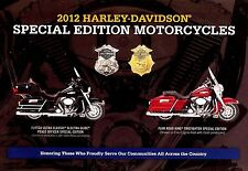 2012 HARLEY-DAVIDSON PEACE OFFICER & FIREFIGHTER BROCHURE -FLHTCU-FLHR-FLSTC