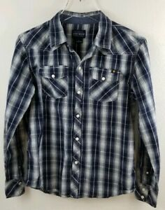 Lucky Brand Youth Pearl Snap Button Up Size L