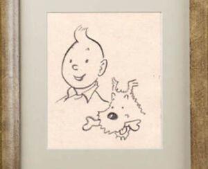 Tintin Drawing after Hergé Georges Remi Herge Tin Tin Belgian Cartoon Sketch