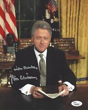 42ND PRESIDENT BILL CLINTON SIGNED OVAL OFFICE 8x10 INCH PHOTO JSA COA #Y90985