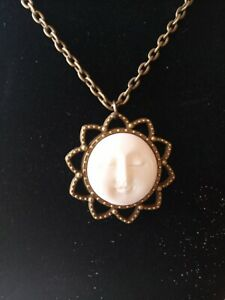 Carved Face Of The Sun Pendent With Chain