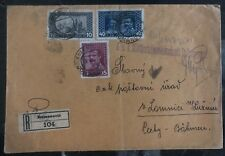 1917 Domanovic Bosnia Herzegovina Military Post office KUK Cover To Czecholovaki