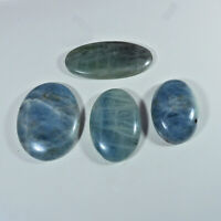 460Cts. Natural Aquamarine Oval Cabochon Loose Gemstone 04Pcs Lot S644